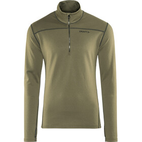 Craft Pin Half Zip Midlayer Herr dk olive/black